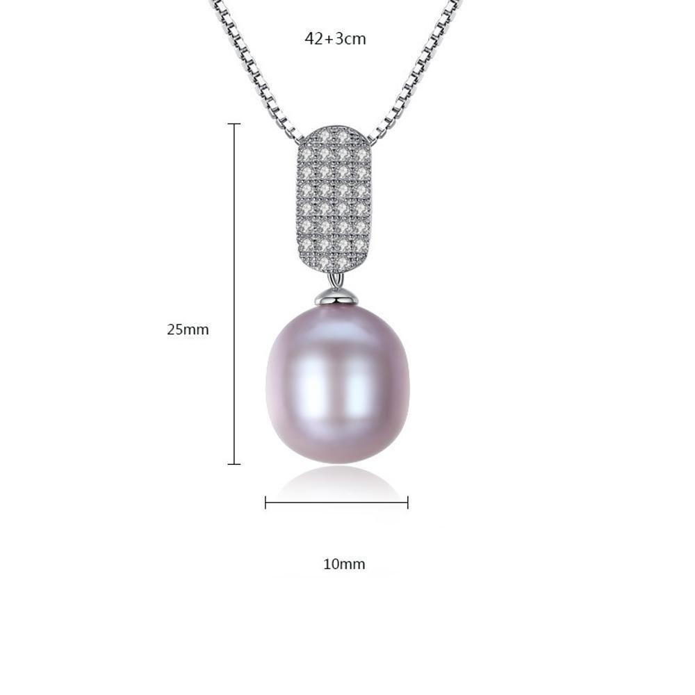 Haixng S925 reines Silber natürliche Süßwasser Perlenkette Anhänger Anhänger Anhänger Anti-Allergie reines Silber s925 Anhänger Kette Länge 42 cm + 3 cm B07BQB5VH9 Schultertaschen 10c026