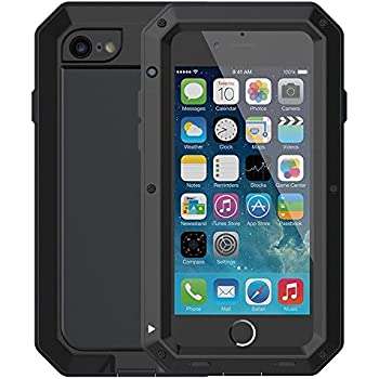 separation shoes c528c bc65d iPhone 6 Plus/6S Plus Case,Mangix Gorilla Glass Aluminum Alloy Protective  Metal Extreme Shockproof Military Bumper Finger Scanner Cover Shell Case  for ...