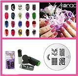 Konad Nail Art Mini Set Polish, Stamper, & Scraper + Image Plate M63 Funky Tips + A-Viva Nail File
