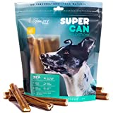 6-inch Standard Odor Free Bully Sticks [ 10 Pack ] by Super CAN Bully Sticks, 100% Natural Premium Dog Treats and Chews Made only from Free Range Grass fed Beef. Dogs Favorite Bully Sticks. Review