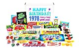 Woodstock Candy 1978 40th Birthday Gift Box - Nostalgic Retro Candy Assortment from Childhood for 40 Year Old Man or Woman - Jr