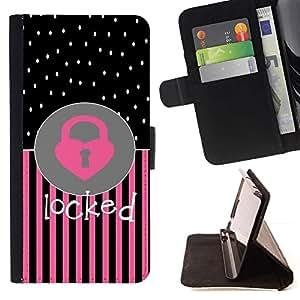 Momo Phone Case / Flip Funda de Cuero Case Cover - Corazón del lunar Rosa Negro Texto - Sony Xperia Z2 D6502