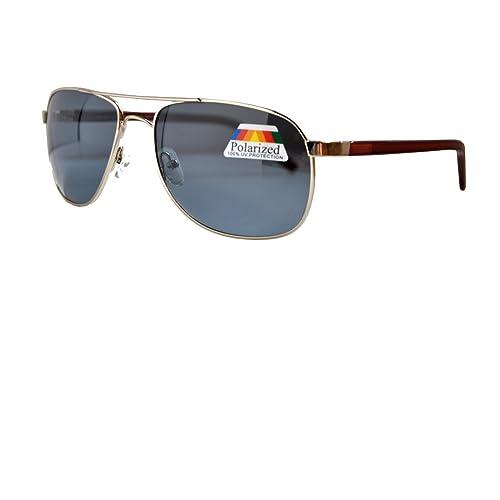 IRIS GLASS Gafas de sol clasicas tipo Ray Ban, POLARIZADAS, Armadura en acero, Cristales de alta calidad, Proteccion solar (clase-3 - AV-400)