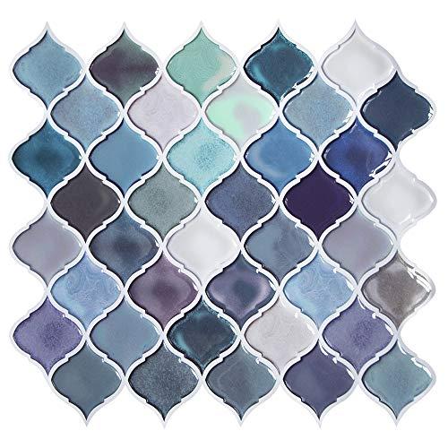 Teal Arabesque Peel and Stick Tile for Kitchen BacksplashDecorative Backsplash Peel and StickStick on Tiles for BacksplashSmart Tiles Peel and Stick Backsplashes 11#039#039 x10#039#039 5 Sheets