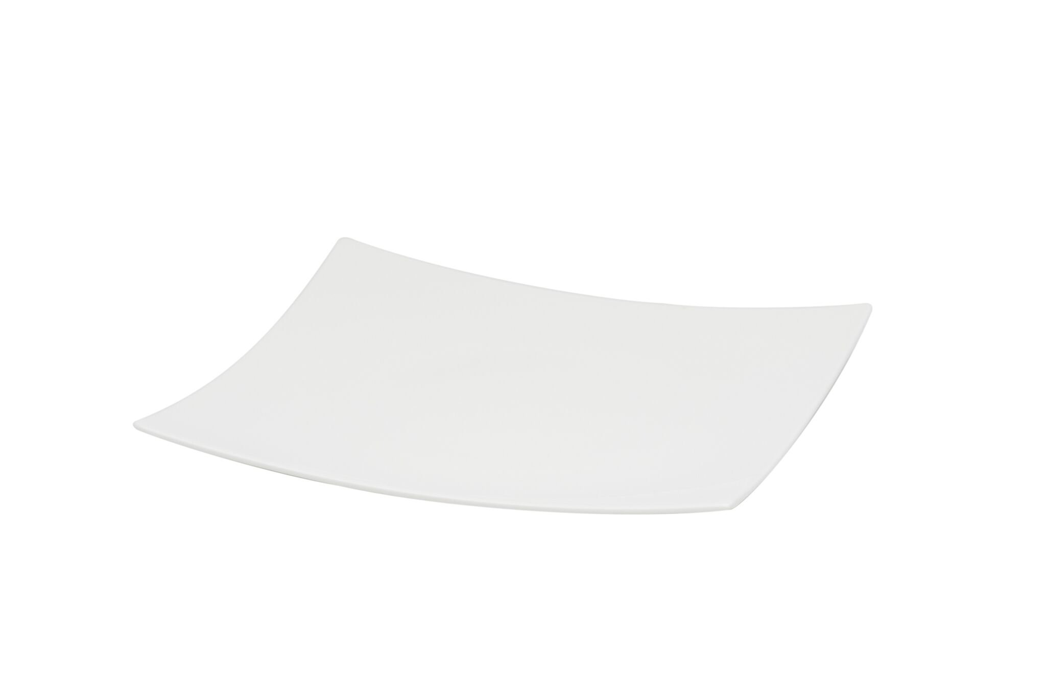 Red Vanilla Extreme Square Dinner Plate, Set Of 6, 10'', White by Red Vanilla