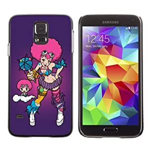 Designer Depo Hard Protection Case for Samsung Galaxy S5 / Cute Lollipop Pink Girl