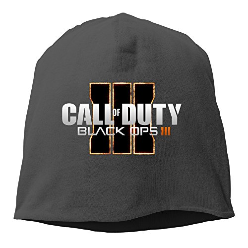 Price comparison product image Call Of Duty Black Ops Iii Unisex Hisper Winter And Fall Black Beanie Cap Wooly Hat