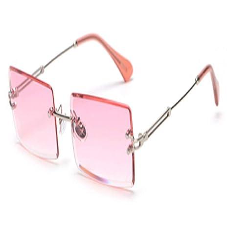Yangjing-hl Gafas de Sol rectangulares pequeñas Gafas de Sol ...