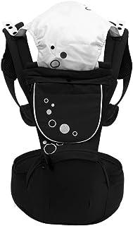 Zyjfp Baby Belt, Girovita, Schiena E Fianchi, Baby Carrier Traspirante Multi-Funzionale Per Tutte Le Stagioni (3-15Kg, 3-36 Mesi),Black