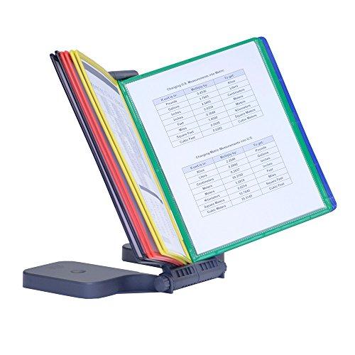 - Ultimate Office AdjustaView 10-Pocket Desk Reference Organizer