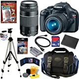Canon EOS Rebel T3 12.2 MP CMOS Digital SLR Camera with EF-S 18-55mm f/3.5-5.6 IS II Zoom Lens and EF 75-300mm f/4-5.6 III Telephoto Zoom Lens + 10pc Bundle 16GB Deluxe Accessory Kit