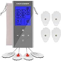 Tens Einheit,Mondeer EMS/TENS-Gerät FDA Cleared wiederaufladbare 2 Output mit 8 Modi Mini-Massagegerät Muscle Stimulator Elektronische Puls-Entspannungsmassager für Schmerzlinderung und Management