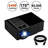 KUAK HT50 LCD Projector 1500 Lumens LED Portable Video Projector Support Full HD