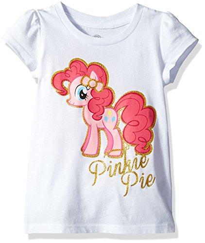 My Little Pony Little Girls' Toddler Pinkie Pie Short-Sleeved Puff T-Shirt, White, 2T]()