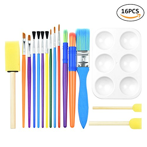 Kids Paintbrush & Pallete Set