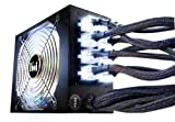 Kingwin Lazer Power Supply 1000 Watts with Universal Modular Connectors/3 Way LED Switch/80 Plus Bronze ATX 1000 Power Supply LZ-1000