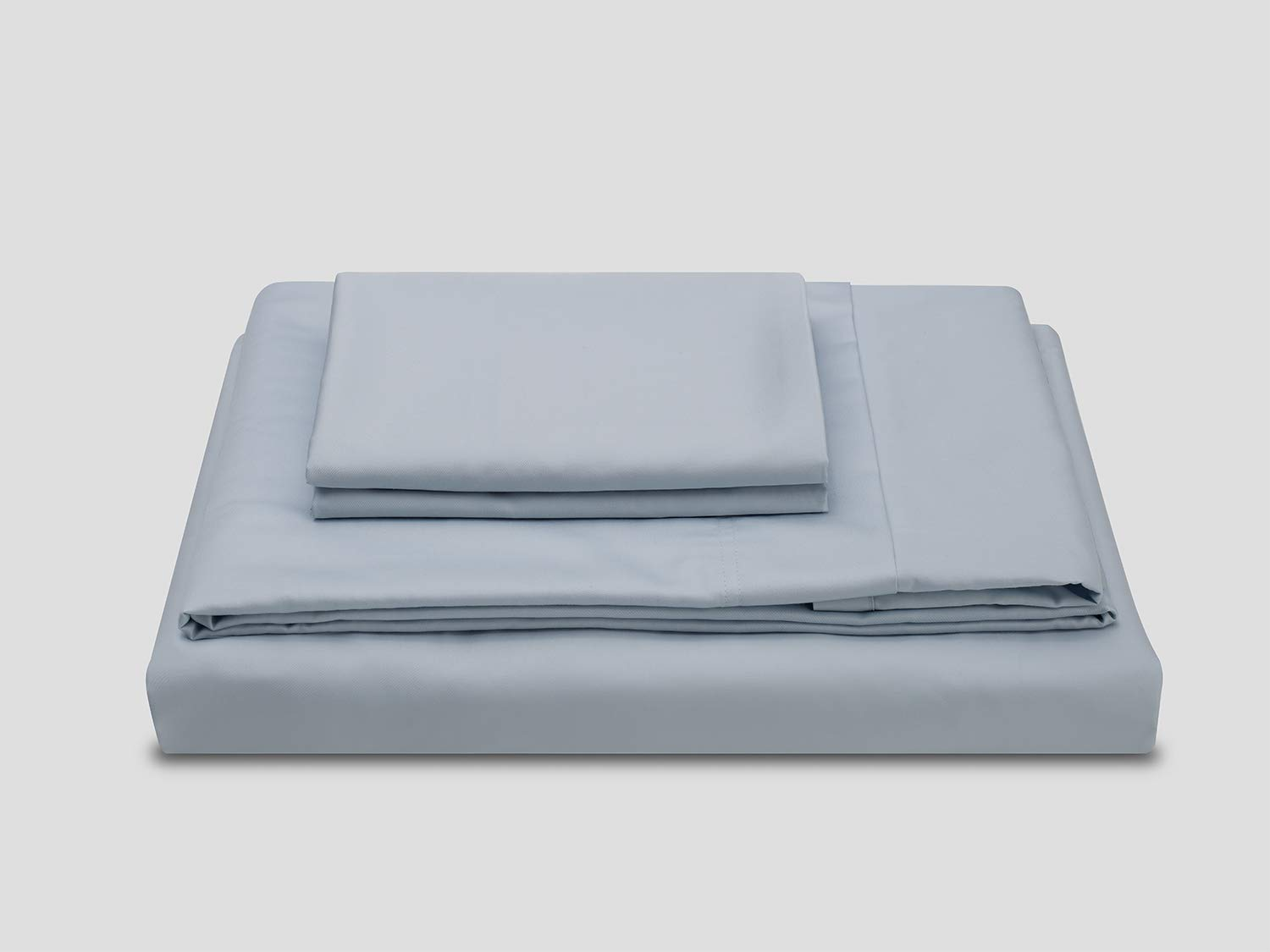 Powderbluee California King Molecule Bed Sheets with Cooling Cotton & Tencel Lyocell fibers Construction, Super Durable and Ultra Lustrous Silk Satin Feel, Deep Pocket Sheet Set (CloudGrey, Twin XL)