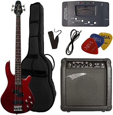 Pack Bajo eléctrico adulto + Ampli 25 W + 5 accesorios ~ Neuf ...