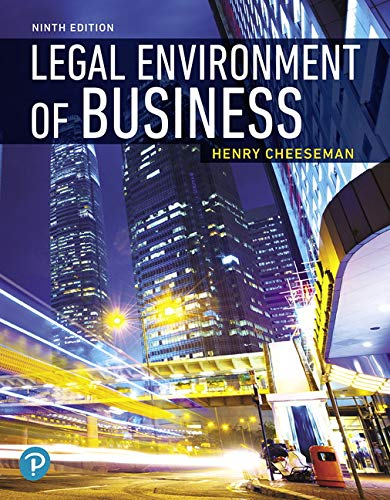 MyLab Business Law with Pearson eText -- Access Card -- for Legal Environment of Business: Online Commerce, Ethics, and
