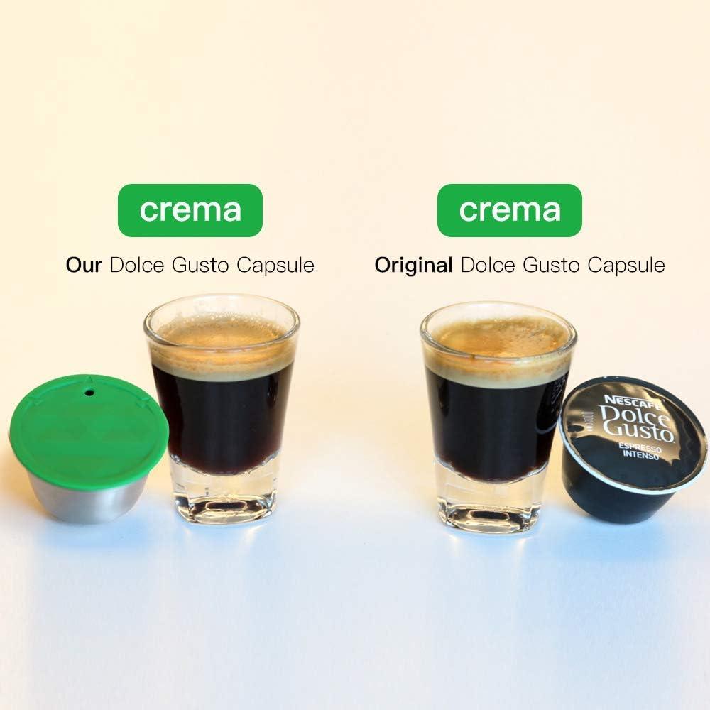 c/ápsula de caf/é recargable de metal de acero inoxidable Orsit para m/áquina Nespresso con 1 cuchara y 1 pincel y 1 martillo C/ápsula de caf/é recargable reutilizable