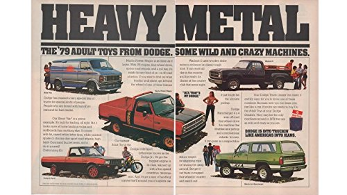 D50 Pickup Dodge - Magazine Print Ad: ''The '79 Adult Toys from Dodge