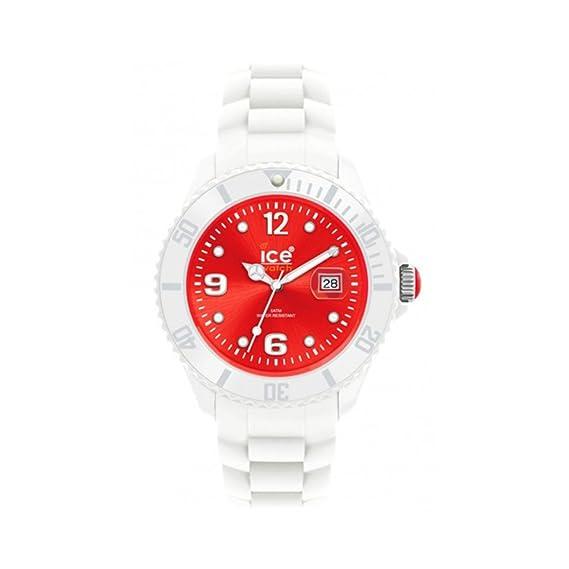 Ice-Watch SI.WD.U.S - Reloj analógico de cuarzo unisex, correa de silicona color blanco: Amazon.es: Relojes