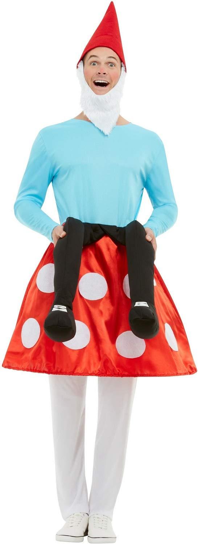 Fancy Me Wicked Costumes - Gnomo da Uomo, a Forma di Fungo, per Feste di Addio al Celibato