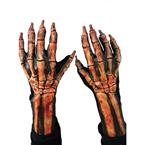 Zagone Kick Ass Beast Gloves, Bloody Skeleton  Hands -