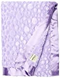 My Blankee Luxe Stone Throw Blanket with Flat Satin Border, Lilac, 59'' X85''