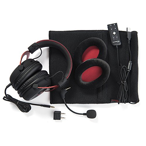 512Yv%2BFrPYL - HyperX Cloud II Gaming Headset for PC & PS4 & Xbox One, Nintendo Switch - Red (KHX-HSCP-RD)