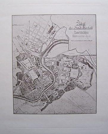 Rastatt Plan Der Stadt Rastatt M 1 4500 Reproduktion Eines Alten