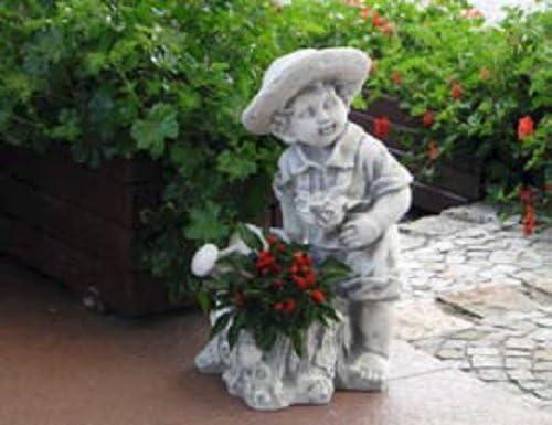 Niño con regadera (s101118) Niños Jardín figuras Estatua de piedra 49 cm: Amazon.es: Jardín