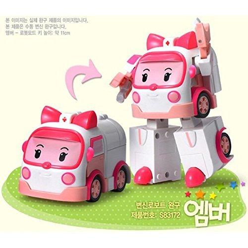 Academy Robocar Poli Transforming Robot Toy Poli, Roy, Amber, Helly, Mark, Bucky 6 Pcs SET