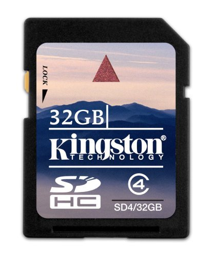 Kingston 32 GB Class 4 SDHC Flash Memory Card SD4/32GB ()