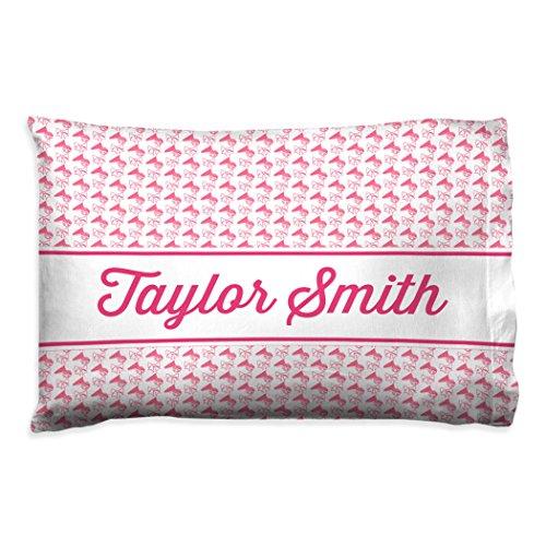(ChalkTalkSPORTS Personalized Cheerleading Pillowcase | Cheer Megaphones with Custom Name |)