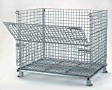 Nashville Wire Collapsible Wire Containers With Zinc-Plated Finish - 48''Wx40''Lx41-1/2''H - 2'' Mesh Size - Container