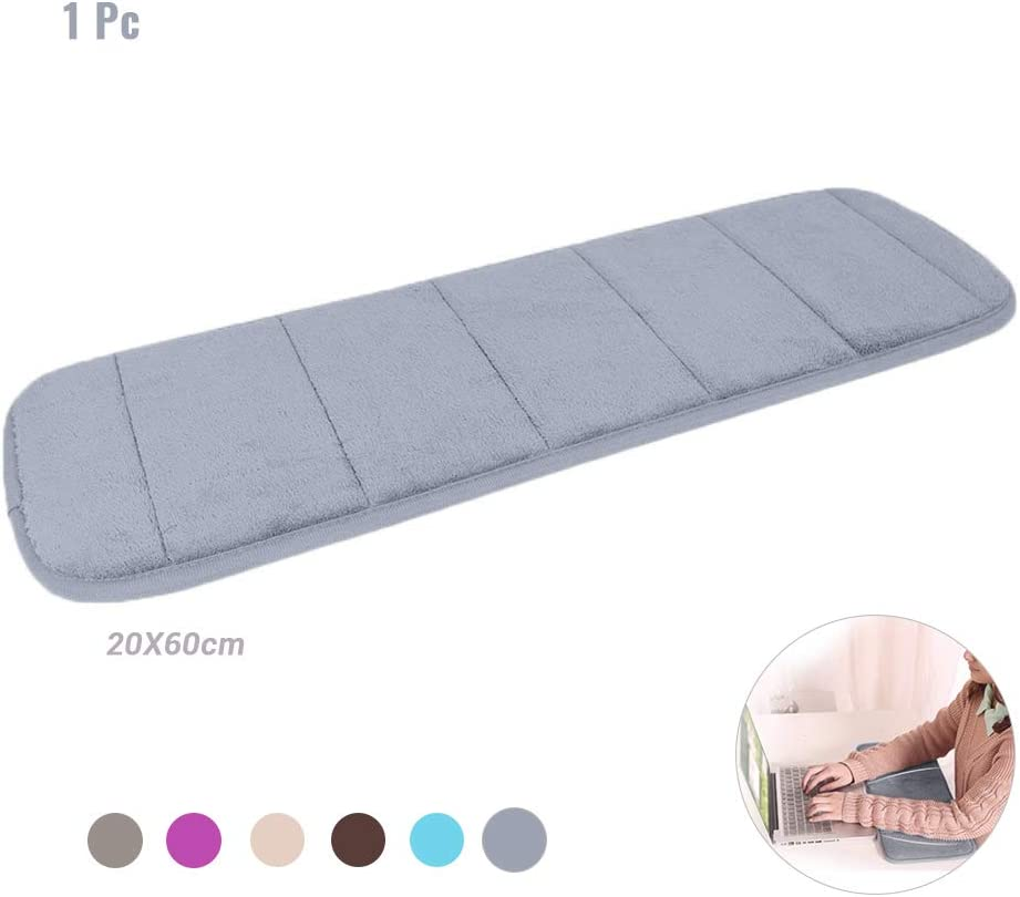 1Pc Computer Wrist Elbow Pad, AUHOKY Upgraded Wrist Rest Arm Pad (Soft, Anti-Slip), Keyboard Wrist Elbow Support Mat for Office Desktop Working Gaming - Less Elbow Pain (7.9 x 23.6 inches) (Gray)