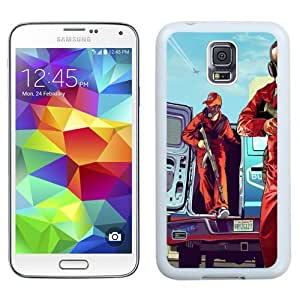 Easy use Cell Phone Case Design with GTA 5 Van Galaxy S5 Wallpaper in White