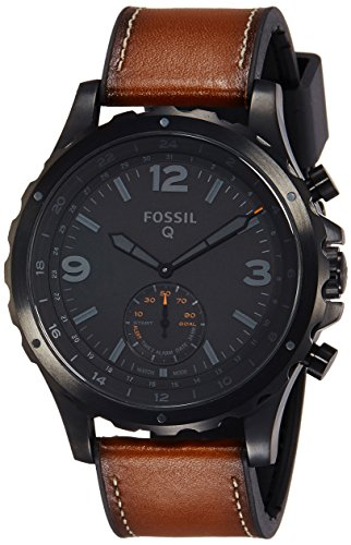 Fossil Q Nate Gen 2 Hybrid Brown Leather Smartwatch (Fossil 50mm Mens Watch)