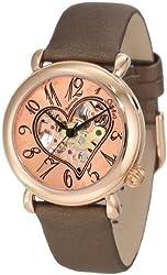 Stuhrling Original Women's 109.1245E14 Amour Aphrodite Cupid II Automatic skeleton Rose-Tone Watch