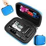 CamKix Case for GoPro Hero 1/2/3/3+/4 and Accessories – Ideal for Travel or Home Storage – Complete Protection for Your Camera – CamKix® Microfiber Cleaning Cloth Included (Small, Blue)
