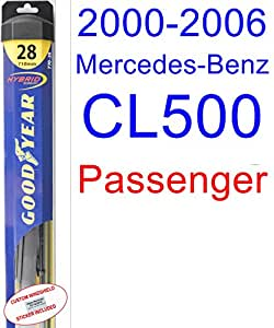 2000 – 2006 Mercedes-Benz CL500 hoja de limpiaparabrisas de repuesto Set/Kit (