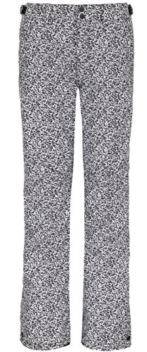 O'Neill Women's Glamour Pant, White AOP with Black, Medium