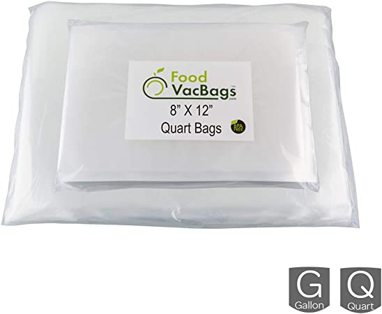 50 QUART /& 50 GALLON Food Storage Bags for FoodSaver Embossed 4mil Universal Bag