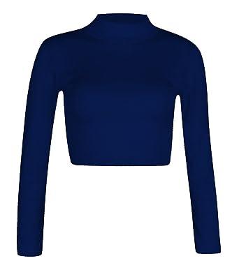 Fashion para Mujer Polo 4 Menos con Cuello Alto de Manga Larga ...
