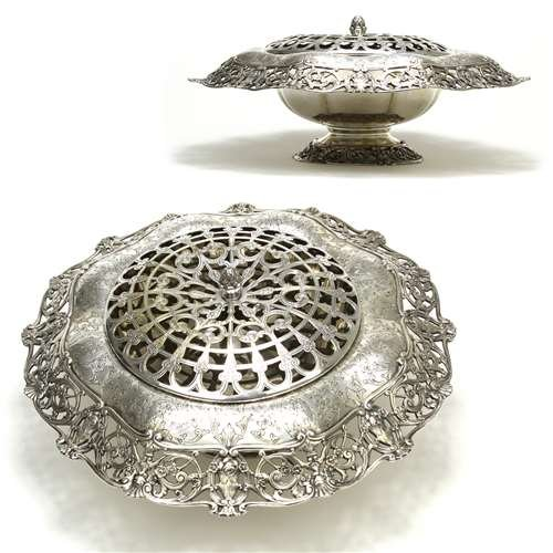 Centerpiece Bowl by Gorham, Sterling, Chased & Reticulated