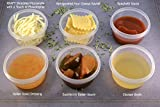 World OF SIP 100 Pack Jello Shot Cups- Pudding Cups-Portion Cups For Summer Party, Picnic ,Or Just For Alcohol Shots With Lids Disposable and Reusable Portion Cups- 2oz cups