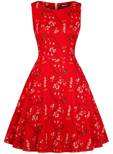 owin-womens-vintage-1950s-floral-spring-garden-picnic-dress-party-cocktail-dress-m-red-white