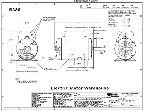 512Yyd0TguL 5 hp spl 3450 rpm r56hz frame 208 230v air compressor motor century b384 wiring diagram at fashall.co
