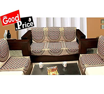 Buy Good Price Sofa Cover Set Of 5 And Chair Cover Set Maroon Gold